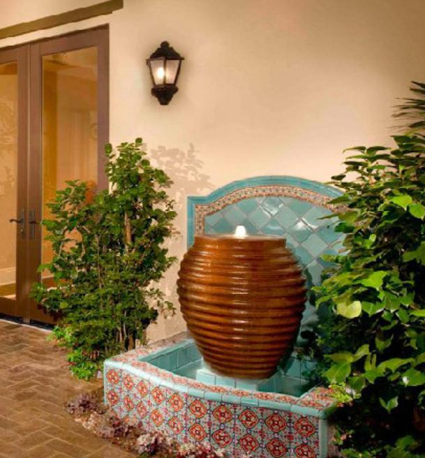 backyard designs water feature