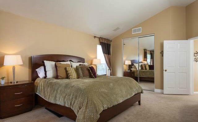 32 Crawford Tustin Upstairs the Master Suite has vaulted ceilings and a huge walk i