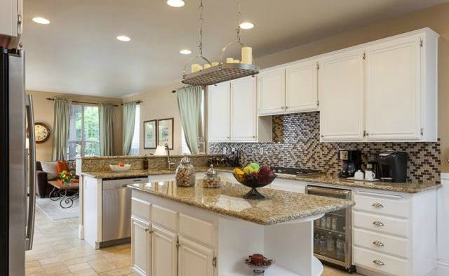 32 Crawford Tustin This designer kitchen was recently remodeled with a designer til