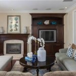 2 Laurelhurst Dr Designer built-in and mantle by Chris Black, crown molding, pict