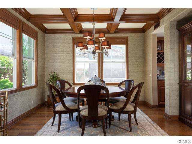3 Drackert Ln The formal dining room is exquisite... an open beamed ceiling wi