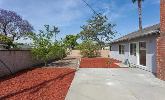 1946 W Lodi Pl Anaheim CA Backyard View