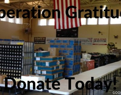 2016 Operation Gratitude Drive with Sandi and Debbie Homes
