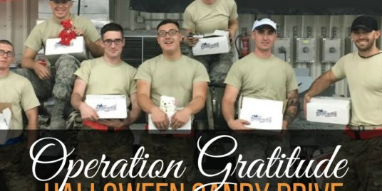 Get ready to help Operation Gratitude during their annual Halloween candy drive and donate some bite-sized doses of home to our troops.