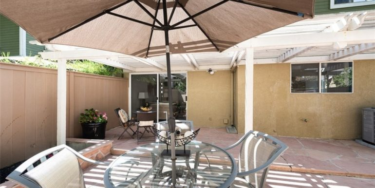 21 Twinberry Aliso Viejo CA Back Patio