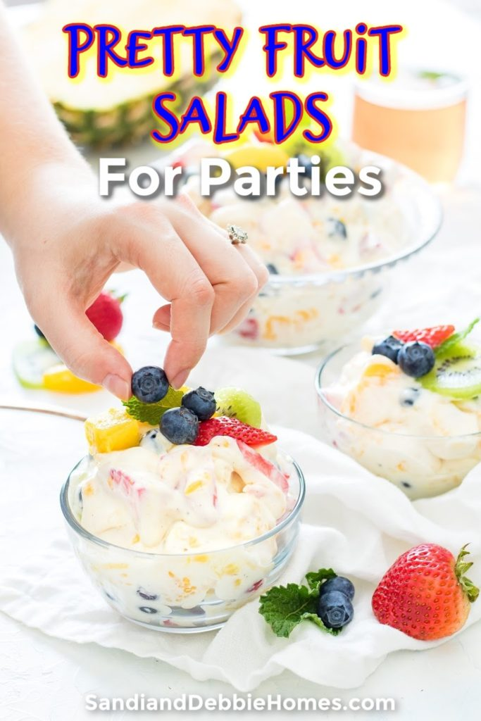Pretty fruit salad side dishes make for perfect party recipes that are healthy, beautiful, and amazingly simple to make no matter when the party starts.