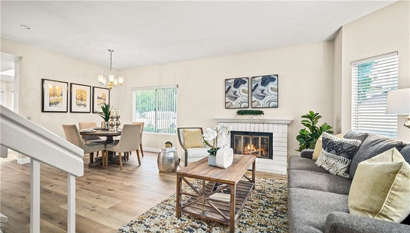 160 Monroe Irvine Fireplace